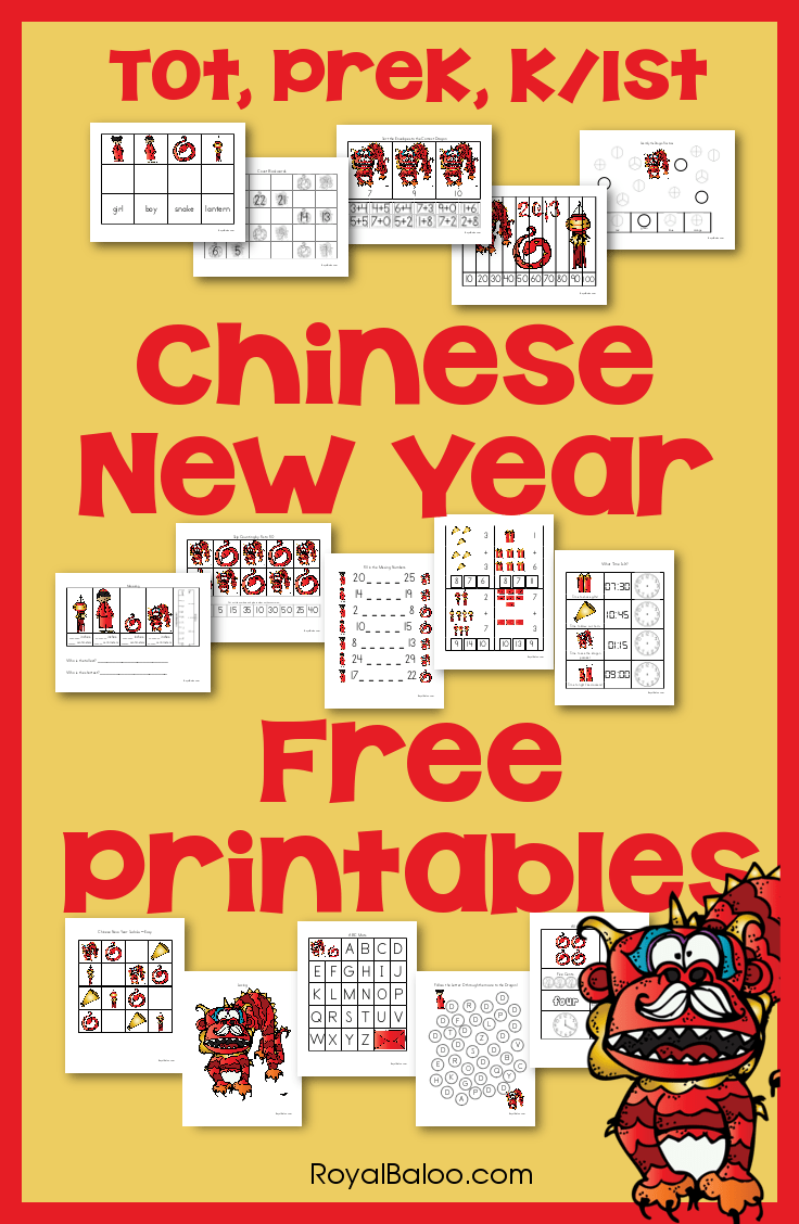 hight resolution of Free Chinese New Year Printable Packs - Royal Baloo