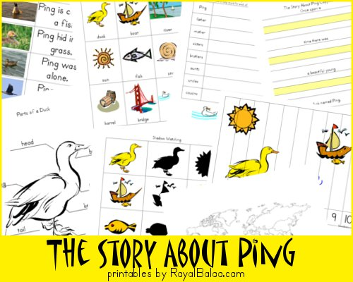 The Story About Ping Printable Pack