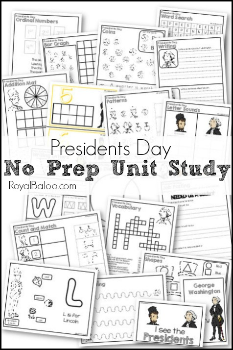 Presidents Day No Prep Printable Unit Study for Elementary