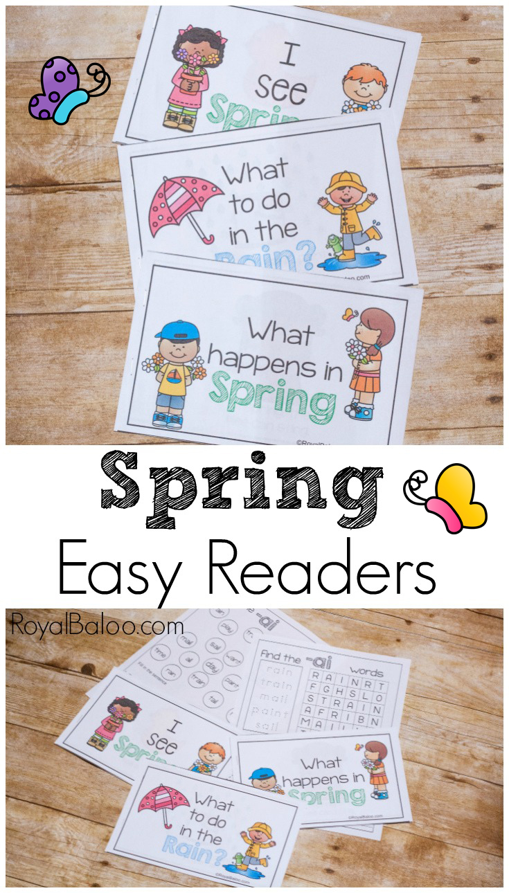 Fun and Simple Spring Easy Reader Printable Books - Royal ...