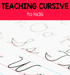 An Easy Guide to Teaching Cursive Writing (with worksheets!) - Royal Baloo [ 1102 x 735 Pixel ]