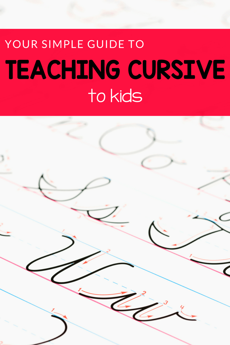 medium resolution of An Easy Guide to Teaching Cursive Writing (with worksheets!) - Royal Baloo