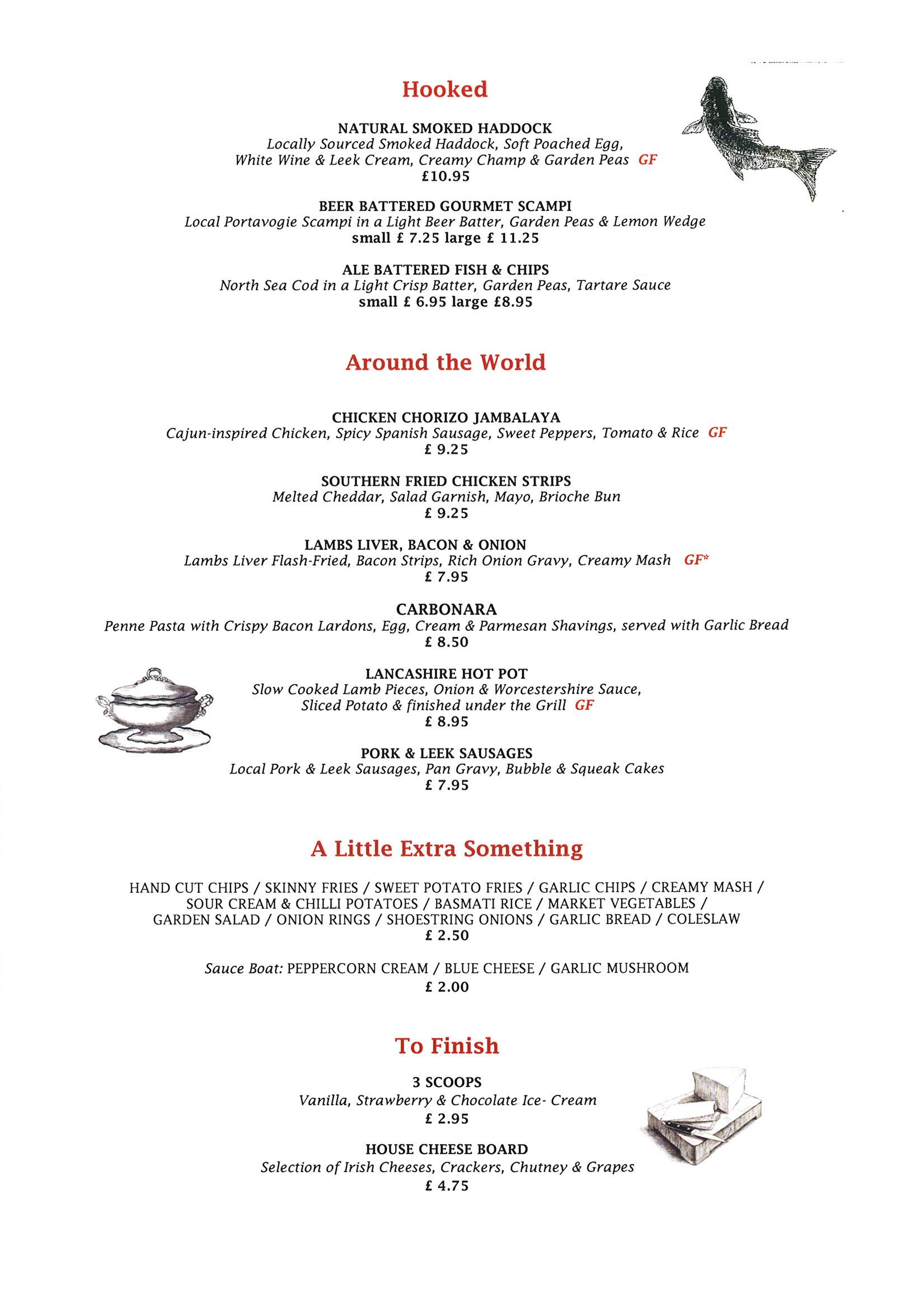 Royal Belfast Golf Club » Sample menus