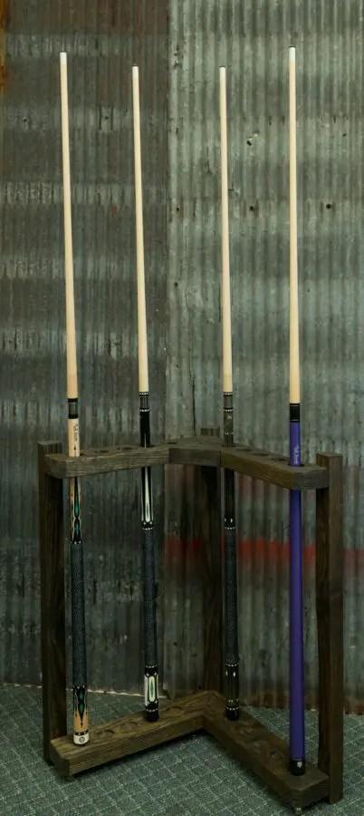 industrial metal chairs cane back chair reclaimed recreation corner cue rack | royal billiard &