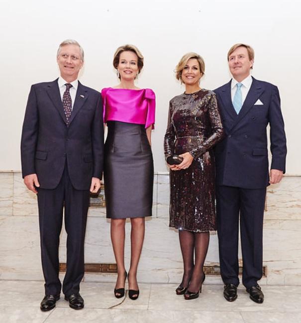 Queen Maxima, Queen Mathilde, King Willem-Alexander, King Philippe