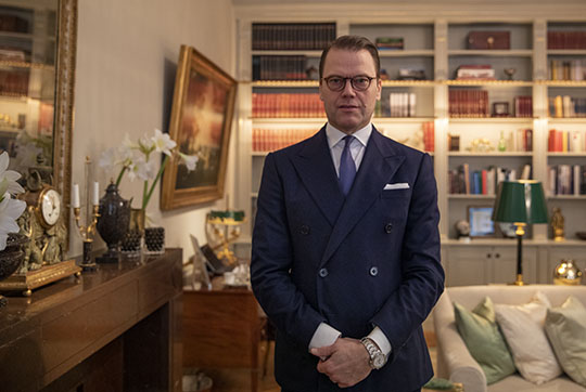 Prince Daniel at the opening of Anti Doping Sweden