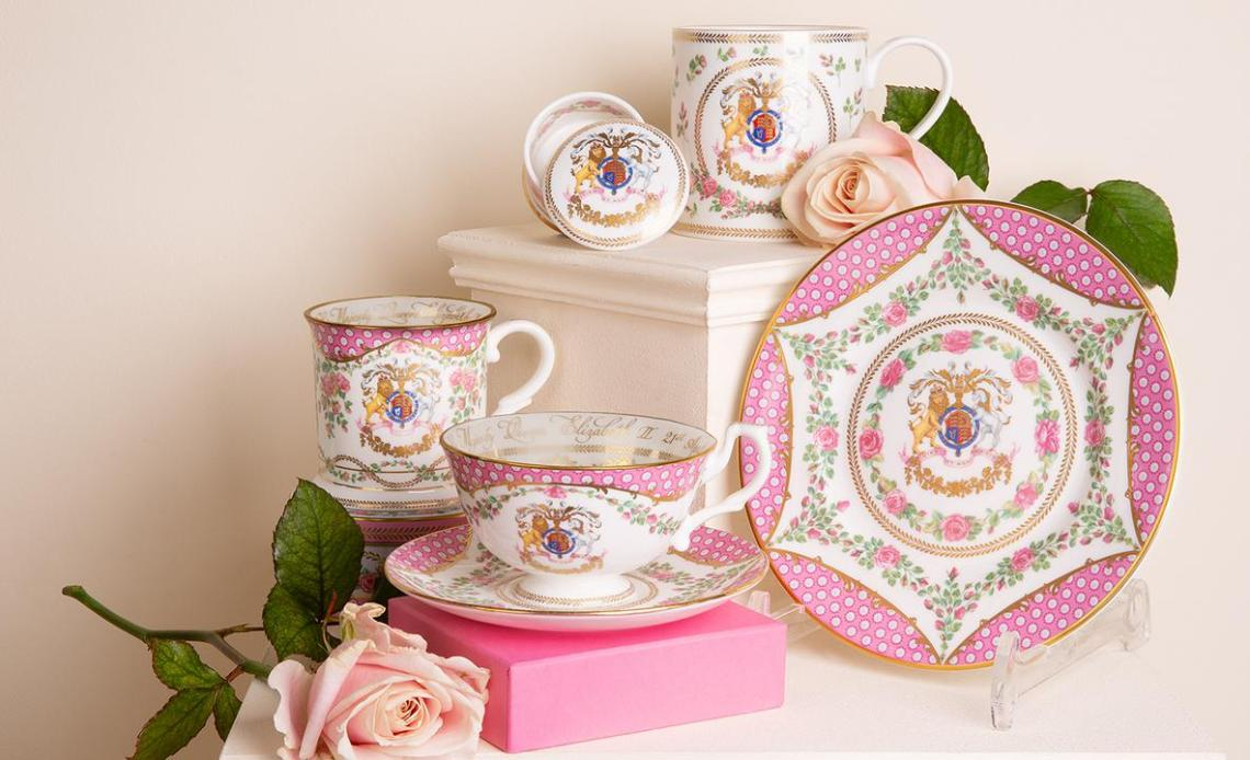 Pink China marking the 95th birthday of The Queen