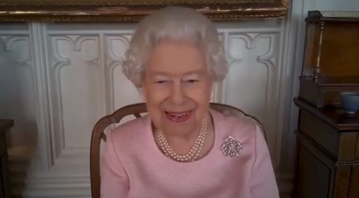 The Queen during a video engagement
