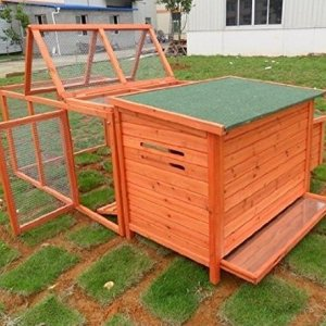 pawhut wooden chicken coop