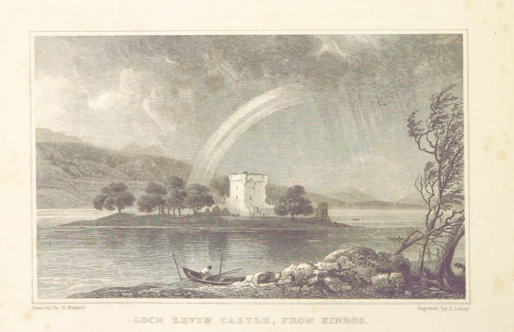 MA(1829)_p.188_-_Loch_Leven_Castle,_from_Kinross_-_Thomas_Hosmer_Shepherd