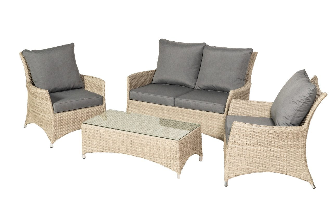 Lisbon Deluxe 4 Seater 4pc Lounging Coffee Set