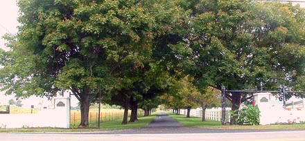 Royal Creek Farm Entrance on Old Springfield Road, Springfield, Ohio