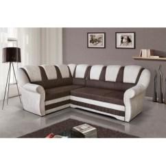 Sofa 250cm Black Red White Corner Bed Lord Ii