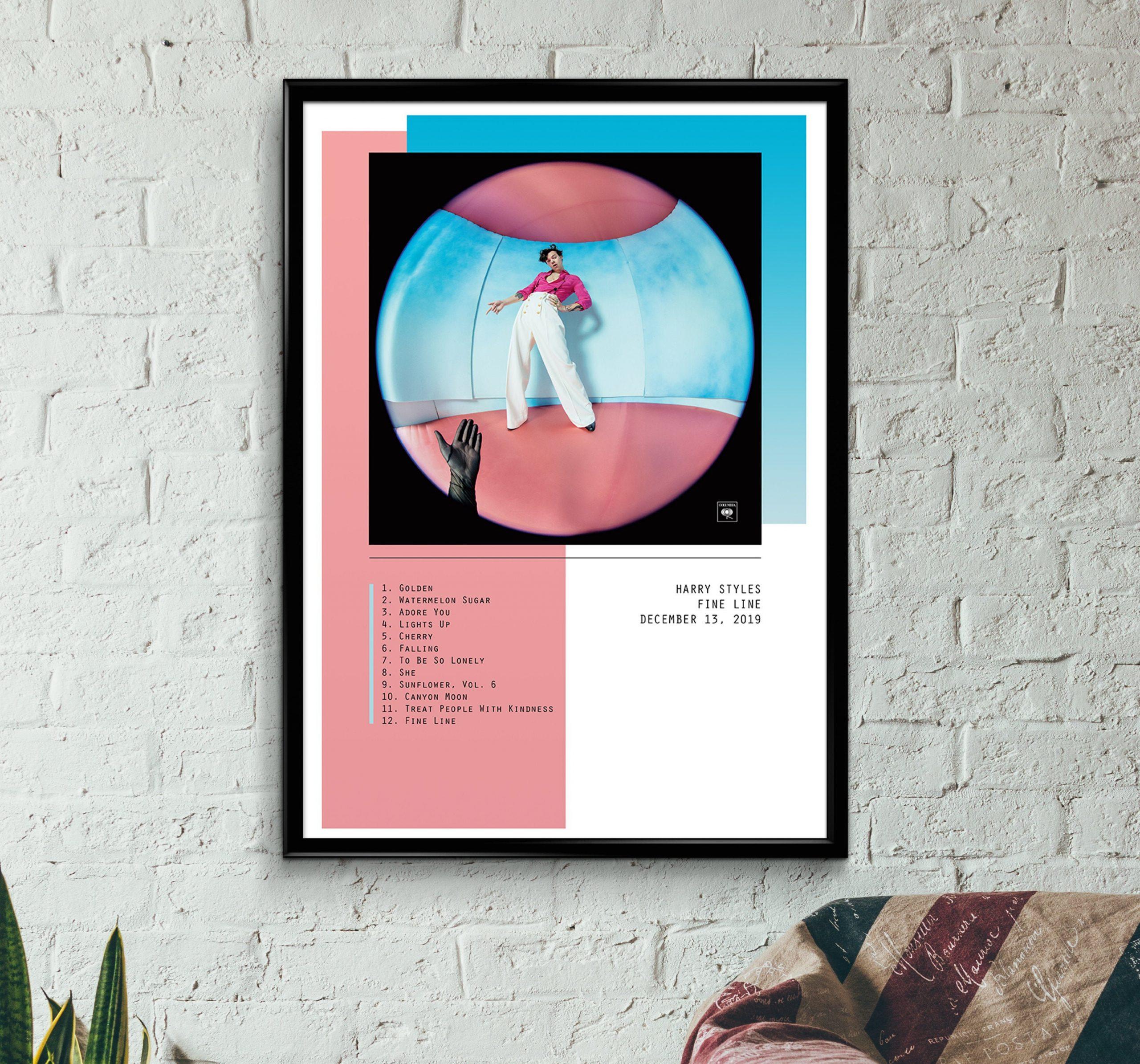 harry styles fine line album wall art