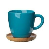 Hgans Coffee Mug with Saucer 33cl, Seagreen - Hgans ...