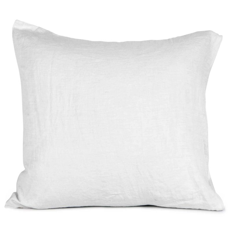 washed linen cushion cover 65x65 white