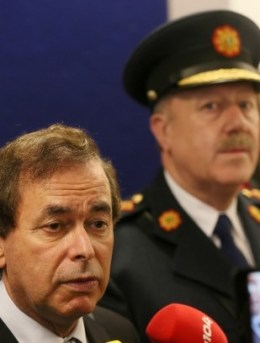 RESIGNED: Justice Minister Alan Shatter and Garda Commissioner Martin Callinan.