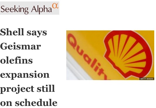Shell says geismar olefins expansion project still on schedule jun 6 2017 414 pm et by carl surran sa news editor fandeluxe Choice Image