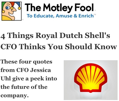 Rdsa Quote: 4 Things Royal Dutch Shell's CFO Thinks You Should Know