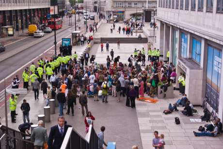 Climate Change Demo at Shell Centre September 2009