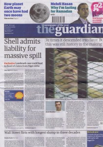 GuardianFrontPage4August2011
