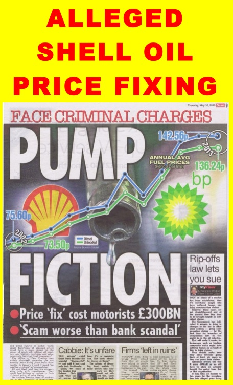 Oil Price Manipulation – Royal Dutch Shell Plc  com
