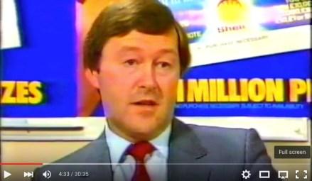 Shell Marketing Development Manager, Ken Danson, 1984
