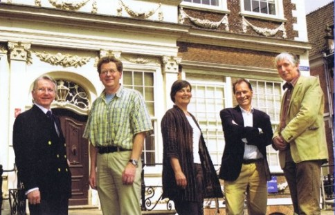 From left to right: Stephen Howarth, Joost Jonker; Keetie E. Sluyterman, Joost Dankers and Jan Luiten van Zanden