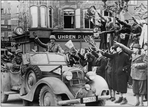 Hitler's annexation of Austria on 12 March 1938