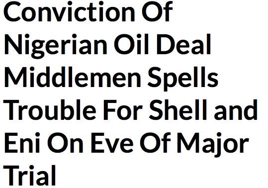 Conviction Of Nigerian Oil Deal Middlemen Spells Trouble