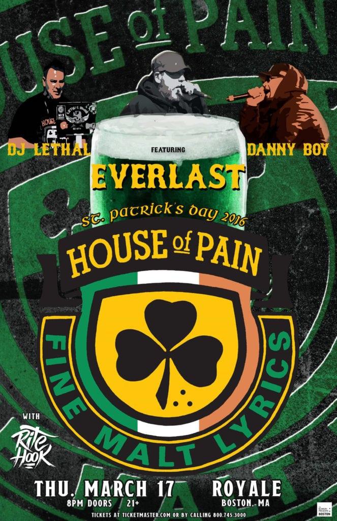 House Of Pain Logo : house, House, Featuring, Everlast, Royale, Boston