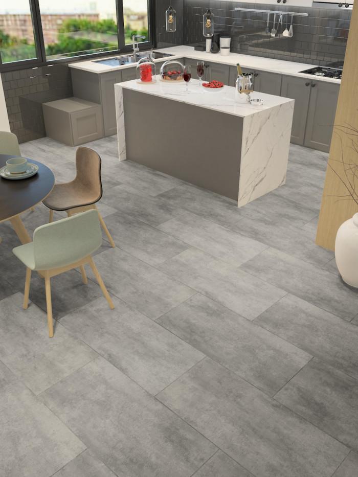 sefora grey stone effect luxury vinyl tile 935x465 mm