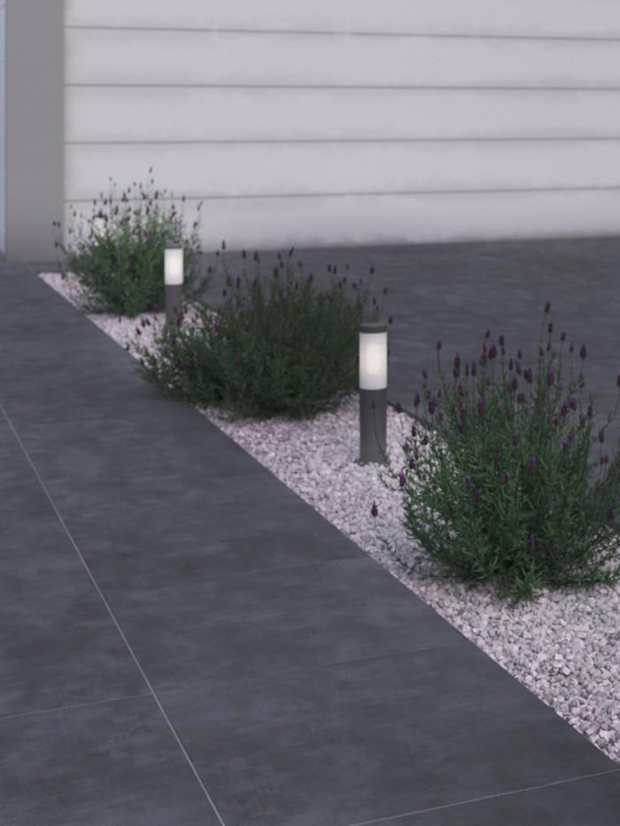 eclipse dark grey vitrified driveway porcelain paving slabs 600x600x30mm pack