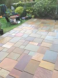 Raj Blend Indian Sandstone Paving Slabs - Mix Size Patio Pack