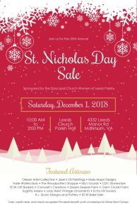 St. Nicholas Day Sale at Leeds Church @ Leeds Church Parish Hall
