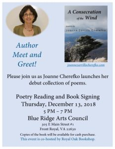 Author Meet and Greet with Joanne Cherefko @ Blue Ridge Arts Council