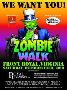 7th Annual Front Royal Zombie Walk @ Bing Crosby Stadium