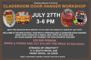 Teacher Classroom Door Hanger @ Strokes of Creativity