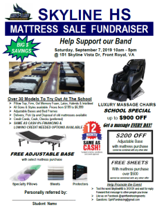 SHS Marching Band Mattress Fundraiser @ Skyline High School