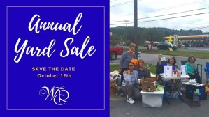 Annual Yard Sale Fundraiser @ Parking Lot of Weichert Realtors