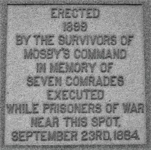 Monument to Mosby's Men @ Front Royal's Prospect Hill Cemetery