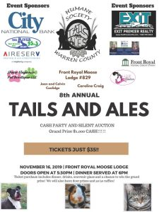 Tails and Ales Cash Party @ Front Royal Moose Lodge