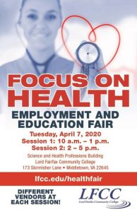 Focus on Health Employment & Education Fair @ LFCC | Science and Health Professions Building