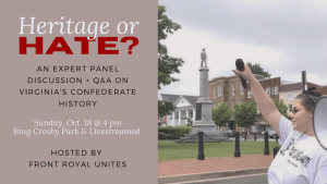 Heritage or Hate? A Confederate History Teach-In @ Bing Crosby Park: Pavilion 1
