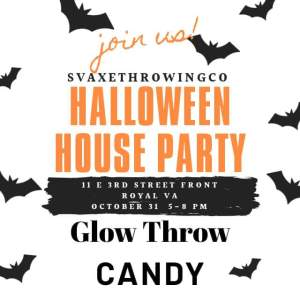 Halloween Glow Throw @ Shenandoah Valley Axe Throwing Co