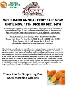 WCHS Band Annual Fruit Sale @ ONLINE STORE