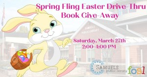 Drive Thru Easter Book Give-Away @ Samuels Public Library