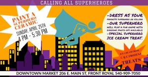 Paint with a Superhero @ Downtown Market