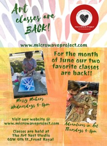 Messy Makers and Art Adventures for Kids @ microWave Project