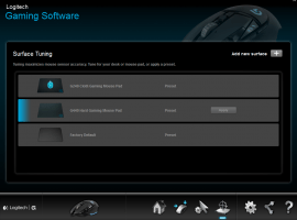 Logitech G502 Proteus Core Tunable Gaming Mouse: Mousepad Tuning